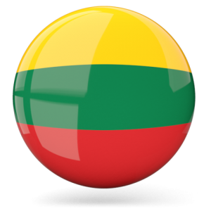 lithuania flag glossy round graphics
