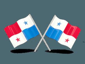 Dos banderas de Panamá cruzadas